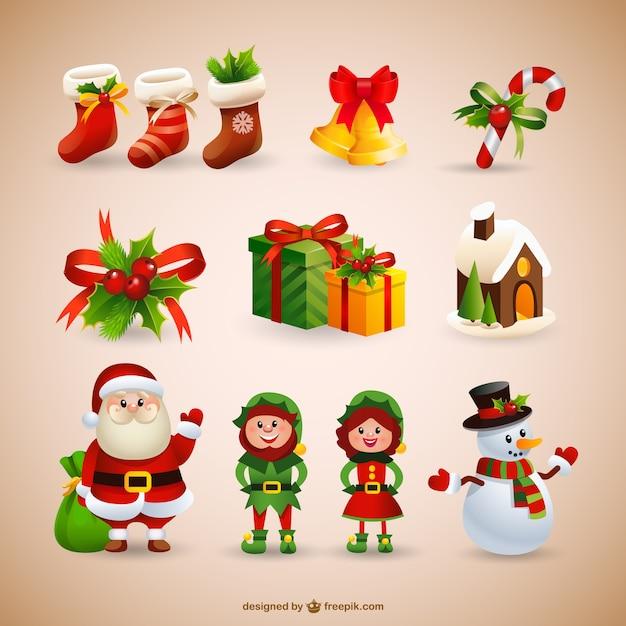 Collection de Noël Vecteur gratuit