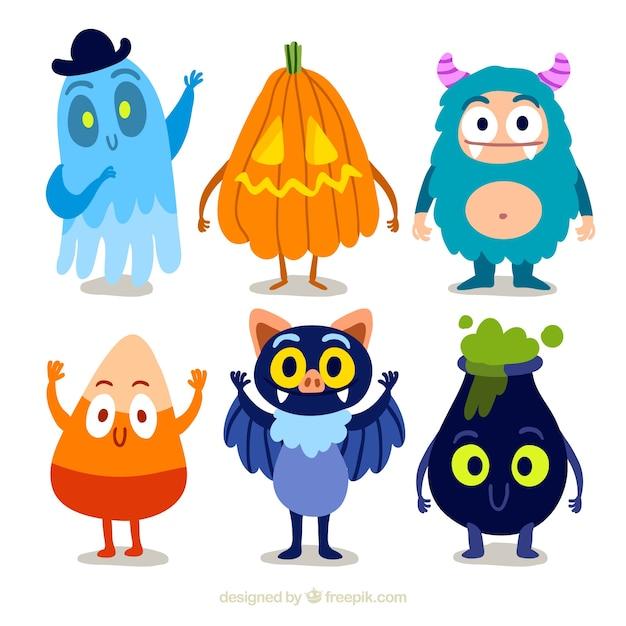 Monstre mignon vecteurs et photos gratuites - Image halloween drole ...