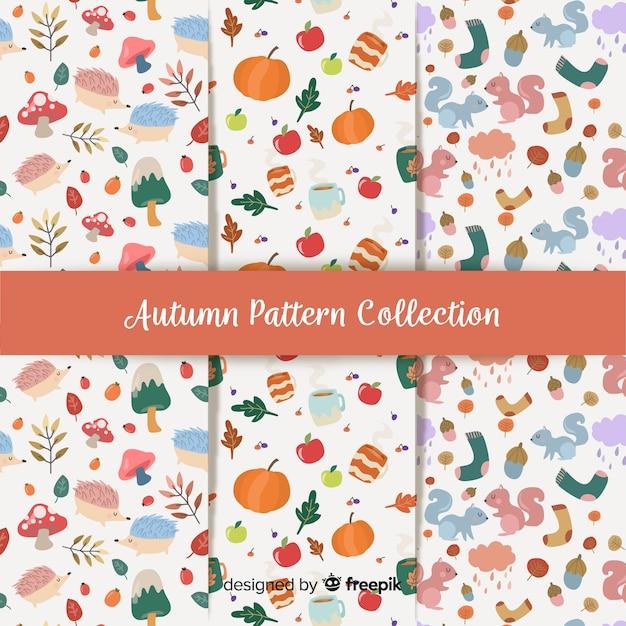Collection de design plat de modèles automne Vecteur gratuit