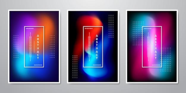 Collection de designs abstrait tendance Vecteur Premium