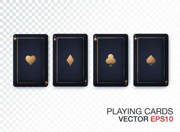 Collection de designs de cartes de casino Vecteur Premium