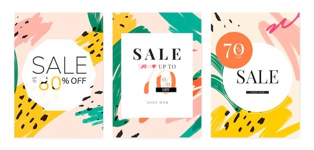 Collection de designs de vente d'été de memphis Vecteur gratuit