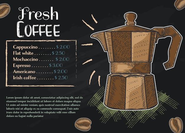 Collection dessinée à la main couleur café Vecteur Premium