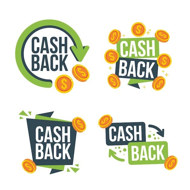 Collection De Différentes étiquettes De Cashback Vecteur gratuit