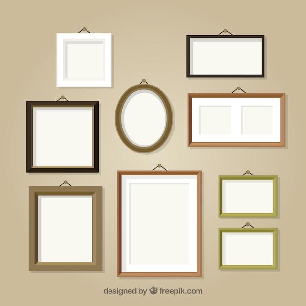 Collection De Différents Cadres Photo Vecteur Premium