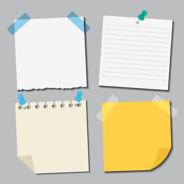 Collection Différents Papiers Vecteur gratuit