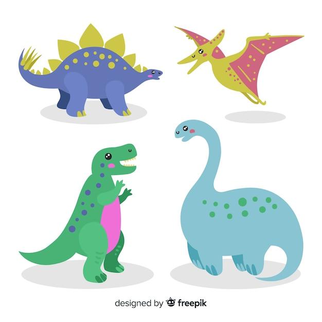 Collection de dinosaures Vecteur gratuit
