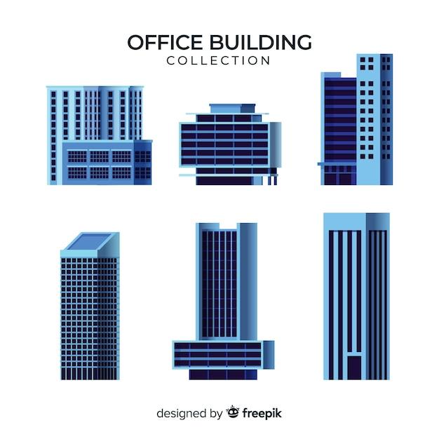 Collection De Divers Immeubles De Bureaux Vecteur gratuit