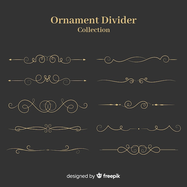 Collection de diviseur d'ornement Vecteur gratuit