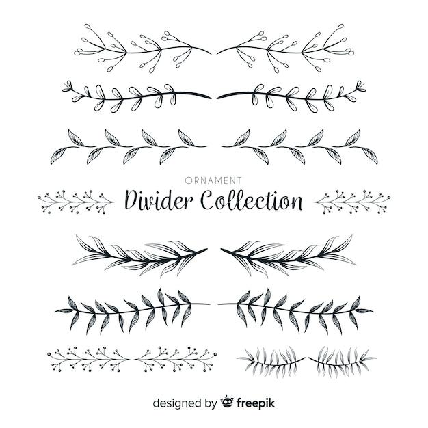 Collection de diviseur d'ornement Vecteur gratuit
