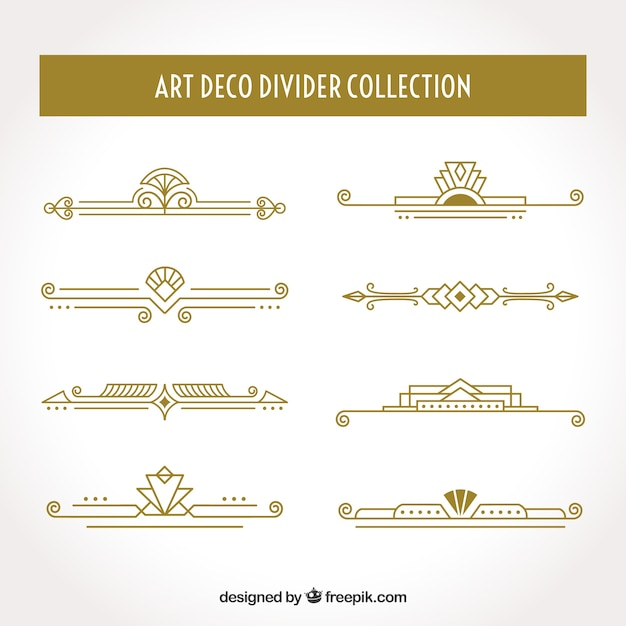 Collection de diviseurs art déco Vecteur gratuit