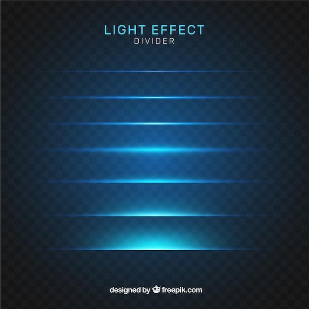 Collection de diviseurs avec effet de lumière Vecteur gratuit