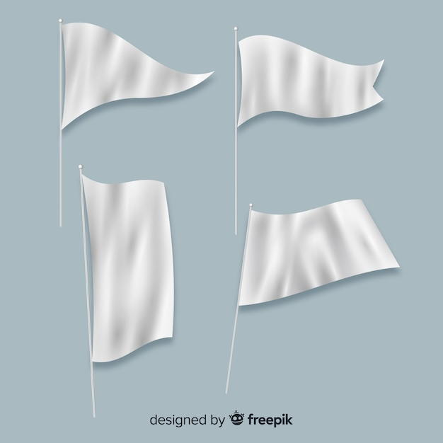 Collection de drapeaux textiles Vecteur gratuit