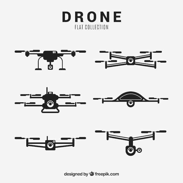 Collection Drone Avec Un Style élégant Vecteur gratuit