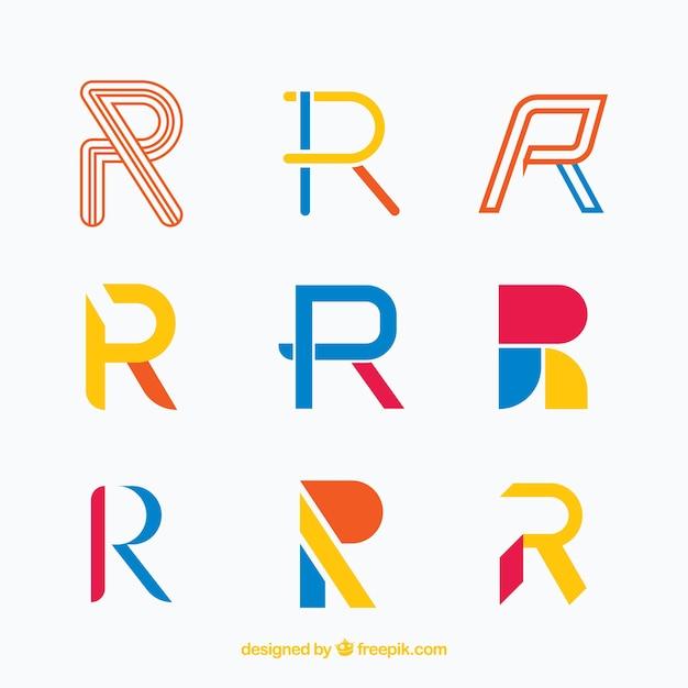 Collection du logo de la lettre