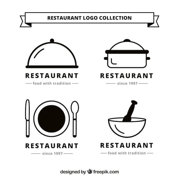 Collection Du Logo Resturant Vecteur gratuit