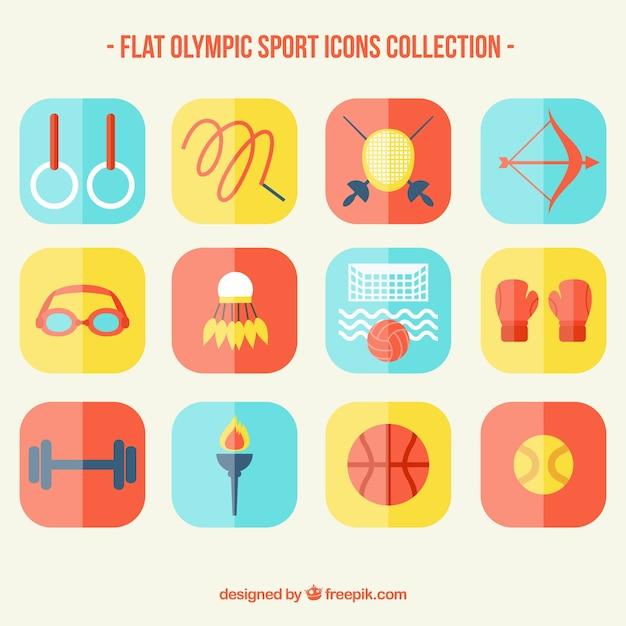 Collection du sport olympique en design plat Vecteur gratuit