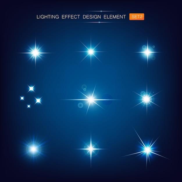 Collection d'effet d'éclairage Vecteur Premium