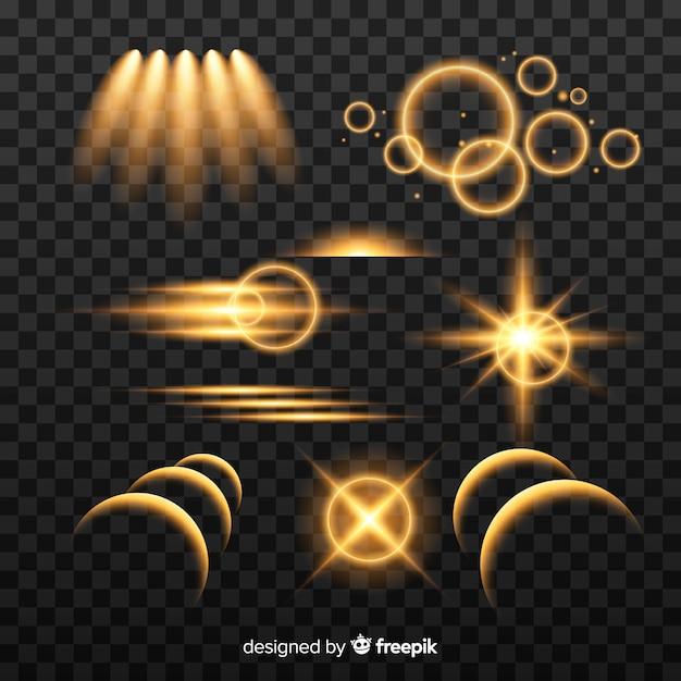 Collection d'effets lumineux abstraits Vecteur gratuit