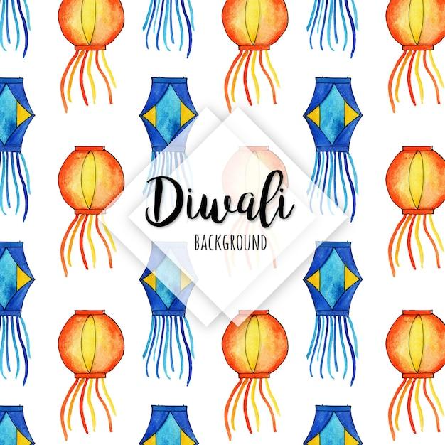 Collection d'éléments aquarelle diwali Vecteur Premium