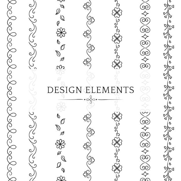 Collection d'éléments de conception de diviseur Vecteur gratuit