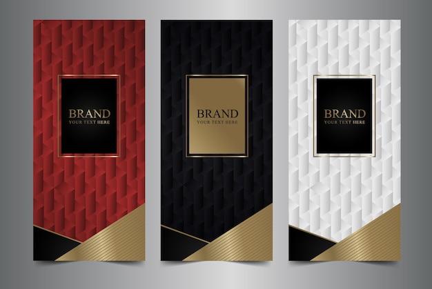 Collection d'éléments de conception, étiquettes, icône, cadres, texture pour l'emballage. Vecteur Premium