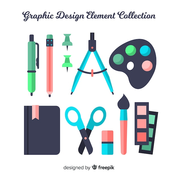 Collection d'éléments de design graphique Vecteur gratuit