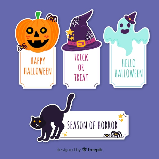 Collection d'éléments d'halloween Vecteur gratuit