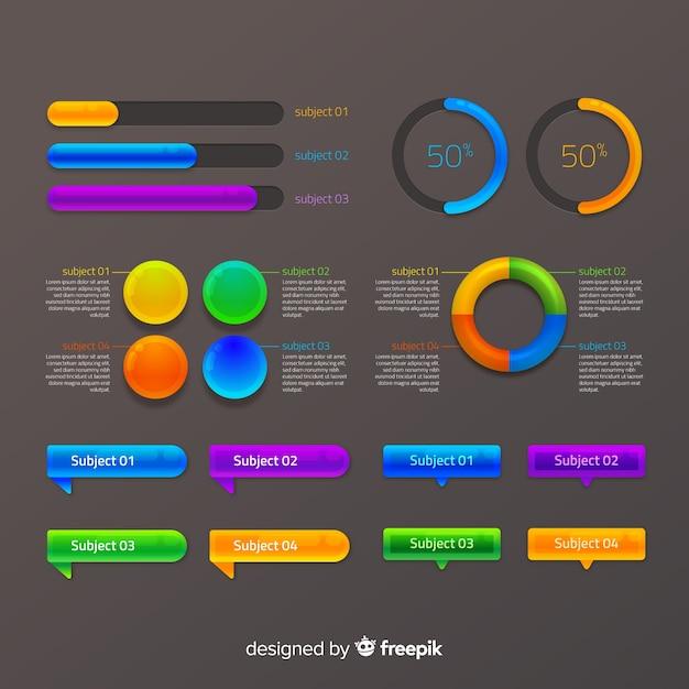 Collection d'éléments infografic Vecteur gratuit
