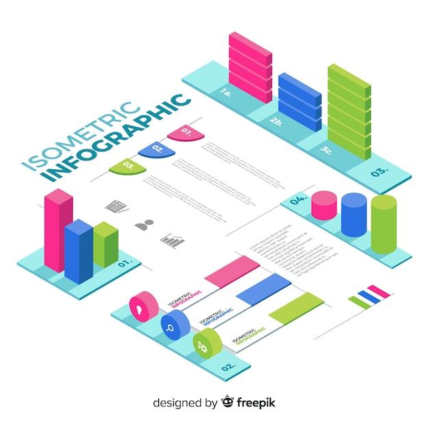 Collection D'éléments Infographiques Isométriques Vecteur gratuit