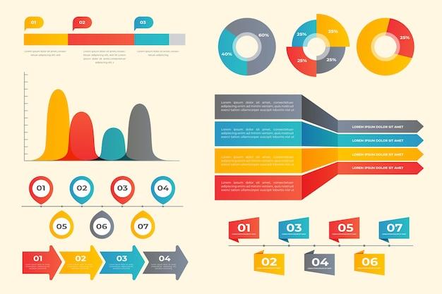 Collection D'éléments Infographiques Vecteur Premium
