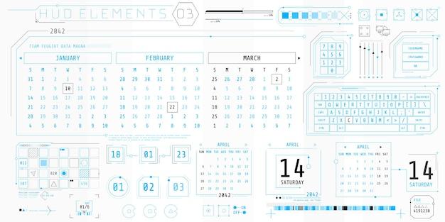 Une Collection D'éléments Minces Pour La Conception D'interfaces Informatiques Et Logicielles. Vecteur Premium