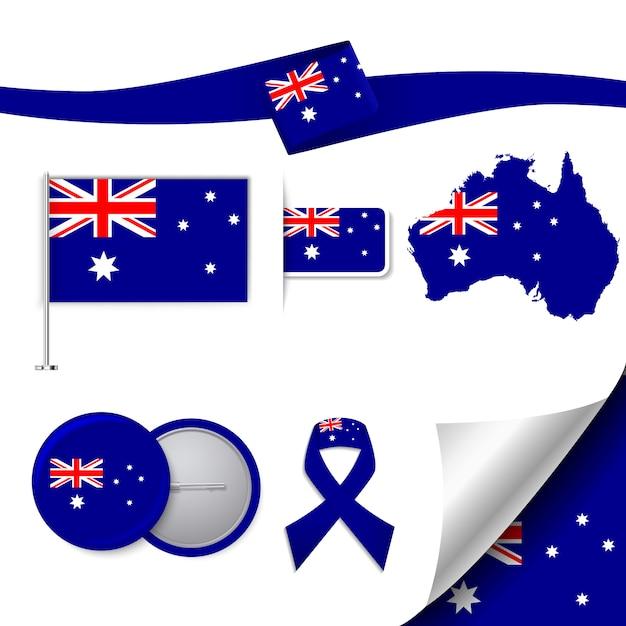 Collection d'éléments représentatifs en australie Vecteur gratuit