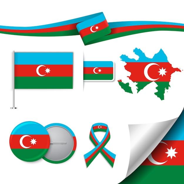 Collection d'éléments représentatifs de l'azerbaïdjan Vecteur gratuit