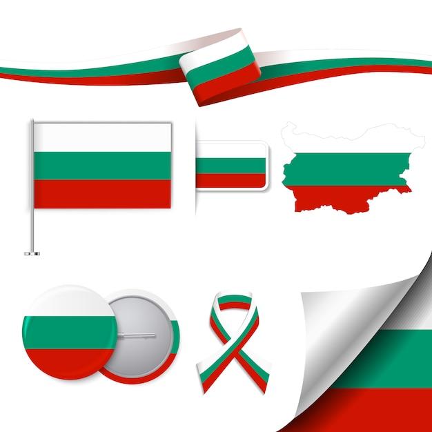Collection d'éléments représentatifs de la bulgarie Vecteur gratuit