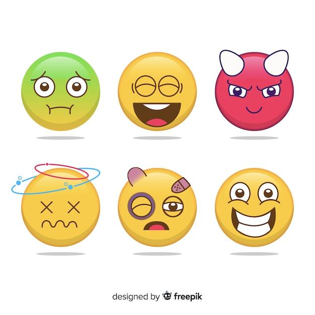 Collection emoji Vecteur gratuit