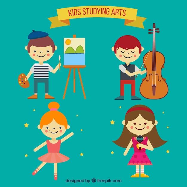 Collection d'enfants talentueux Vecteur gratuit