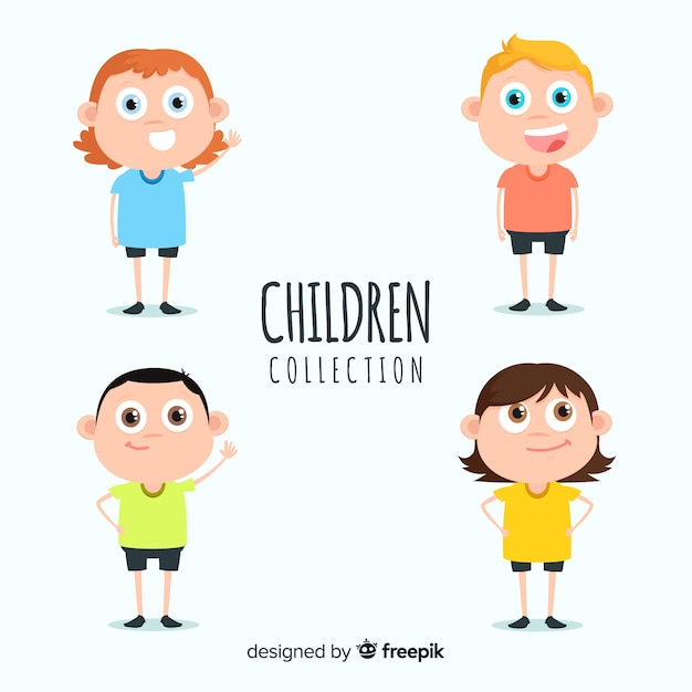 Collection enfants Vecteur gratuit