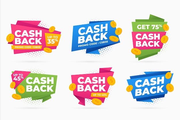 Collection D'étiquettes Cashback Vecteur gratuit