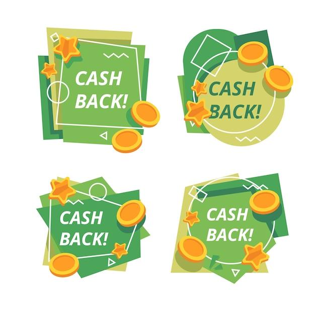 Collection D'étiquettes De Cashback Vecteur gratuit