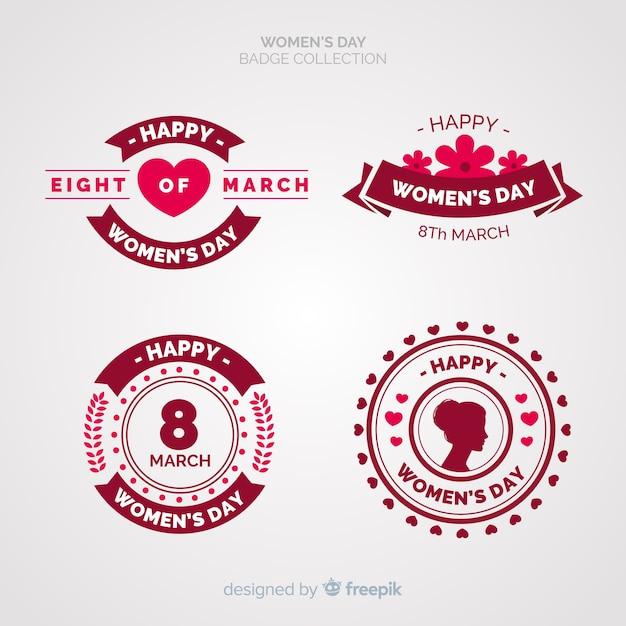 Collection d'étiquettes de la journée internationale de la femme Vecteur gratuit