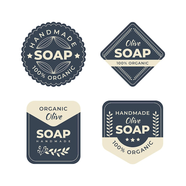 Collection D'étiquettes De Savon Vecteur Premium