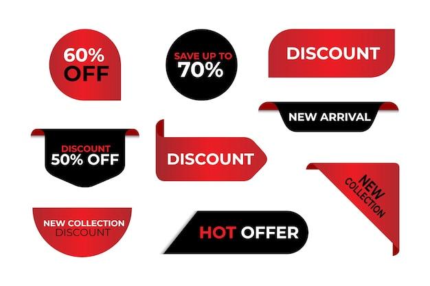 Collection D'étiquettes De Vente Spéciales Vecteur Premium
