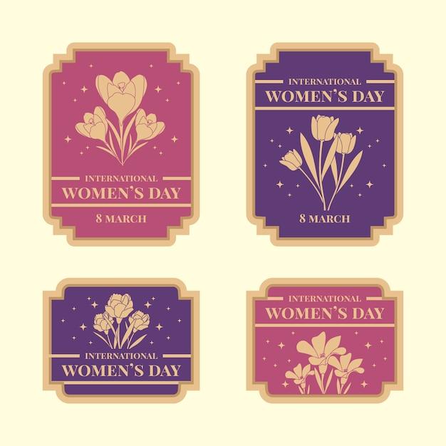 Collection D'étiquettes Vintage Pour Femmes Vecteur gratuit