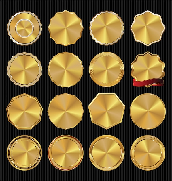 Collection D'étiquettes Vintage Rétro De Qualité Vecteur Premium