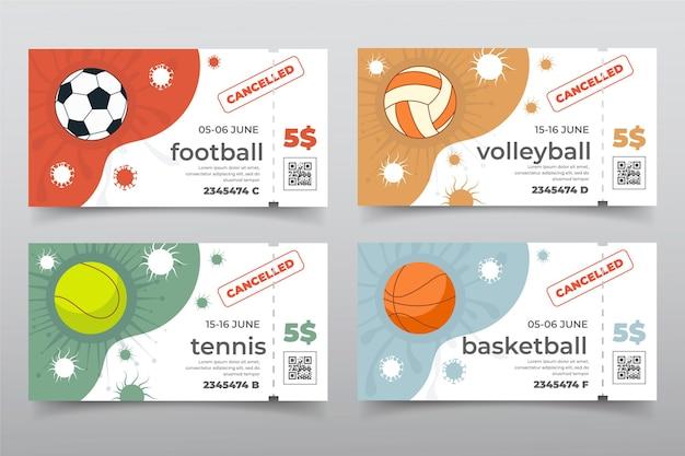 Collection D'événements Sportifs Annulés - Bannières Vecteur gratuit
