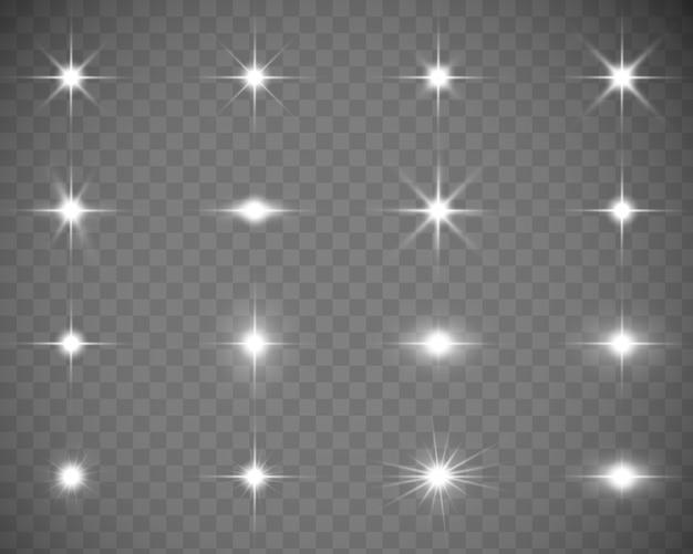 Collection De Flashs, Lumières Et étincelles. Vecteur Premium
