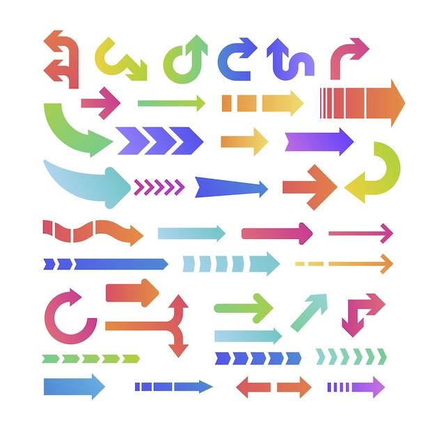 Collection de flèche colorée Vecteur gratuit