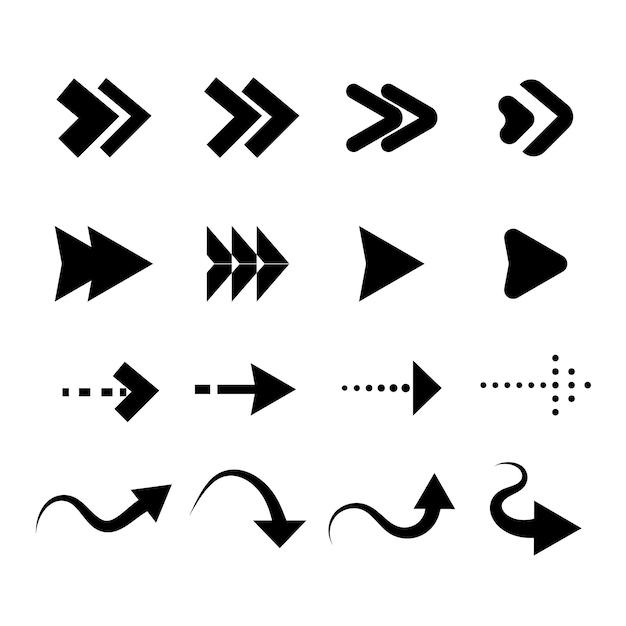 Collection De Flèches Design Plat Vecteur gratuit
