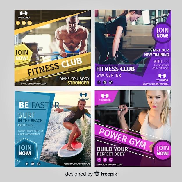 Collection de flyers de sport Vecteur gratuit
